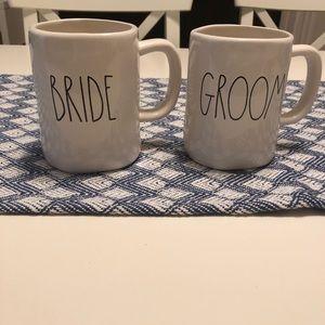 Rae Dunn bride and groom mug set